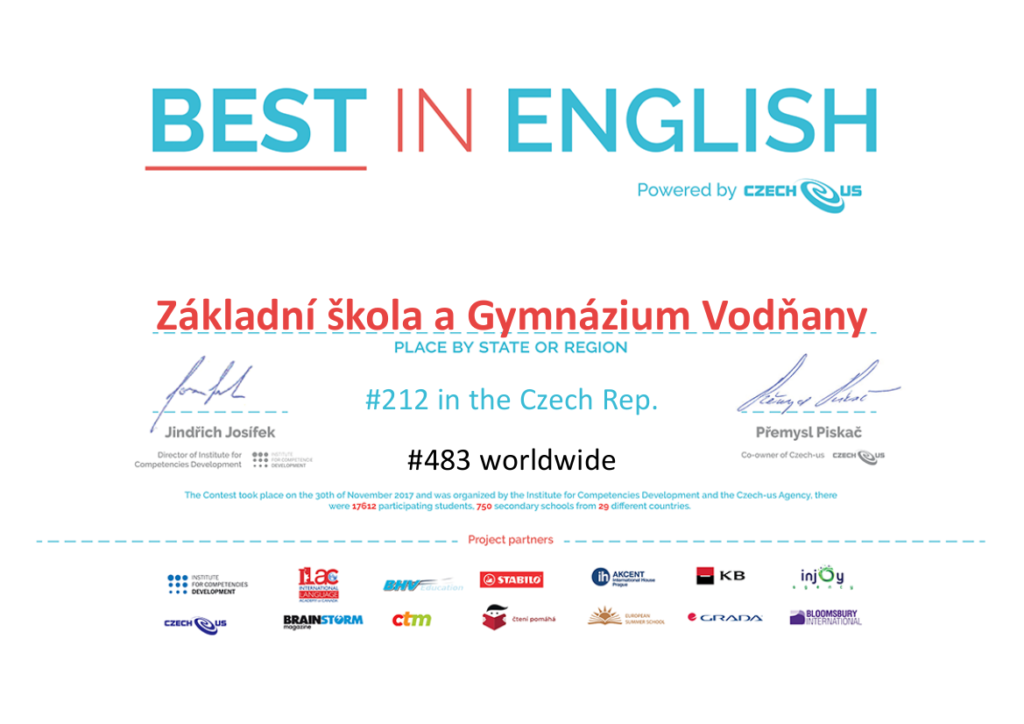 Best in english 2016