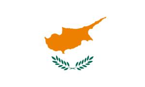 Mapa Kypru v barvách vlajky