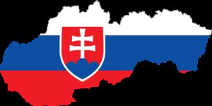 Mapa Slovenska v barvách vlajky
